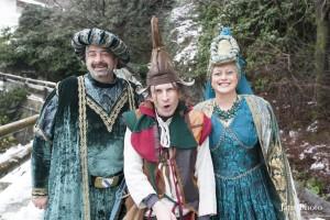Jefte con Caterina e Pierre, personaggi storici protagonisti del Carnevale 2014